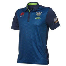 Canberra Raiders 2019 Mens Media Polo Navy S, Navy, rebel_hi-res