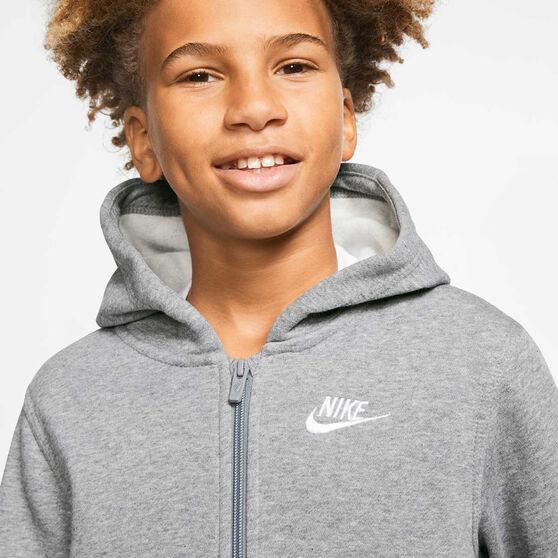 Nike Boys Sportswear Club Hoodie, Grey / White, rebel_hi-res