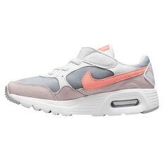 Nike Air Max SC Kids Casual Shoes White/Peach US 11, White/Peach, rebel_hi-res