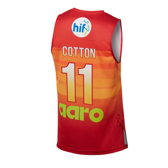 Perth Wildcats Bryce Cotton City Edition 2019/20 Mens Jersey, Red / Orange, rebel_hi-res