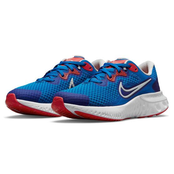 Nike Renew Run 2 Kids Running Shoes, Blue/Red, rebel_hi-res