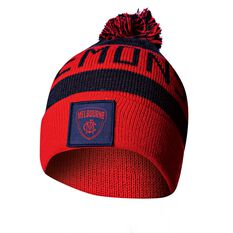 Melbourne Demons Bar Beanie OSFA, , rebel_hi-res