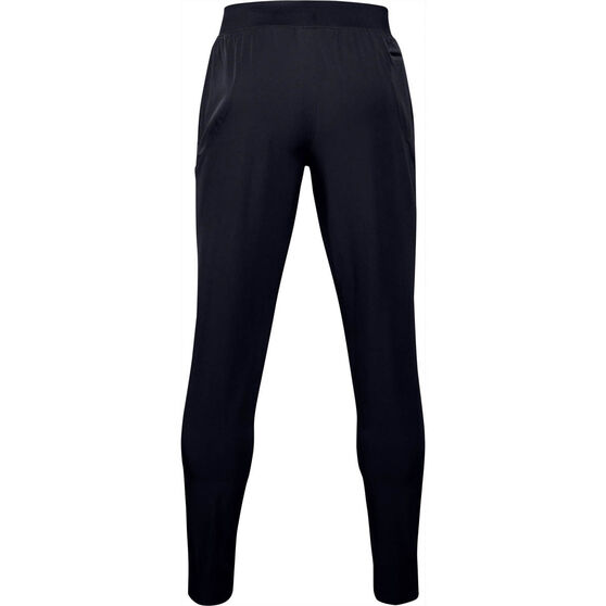 Under Armour Mens Stretch Woven Tapered Utility Pants, Black, rebel_hi-res