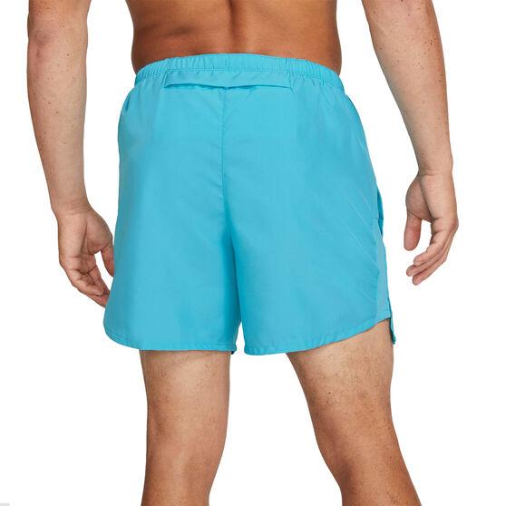 Nike Mens Dri-Fit Challenger Brief-Lined Running Shorts, Blue, rebel_hi-res