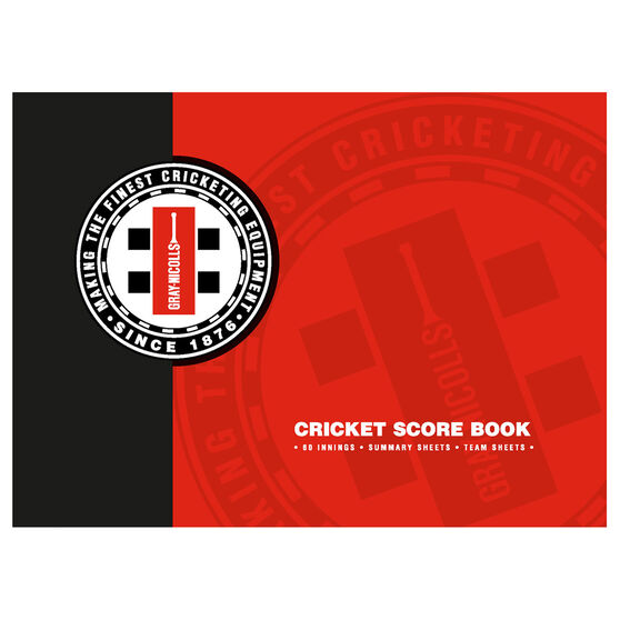 Gray Nicolls Cricket Scorebook 60 Innings, , rebel_hi-res
