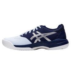 Asics GEL Game 7 Womens Netball Shoes, White/Blue, rebel_hi-res