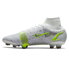 Nike Mercurial Superfly 8 Elite Football Boots Silver/Volt US Mens 6 / Womens 7.5, Silver/Volt, rebel_hi-res
