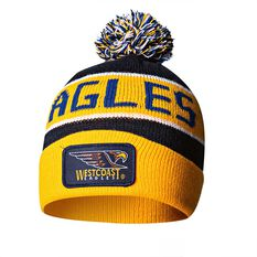 West Coast Eagles Bar Beanie OSFA, , rebel_hi-res