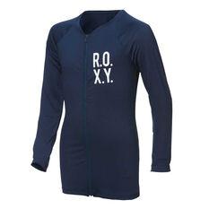 Roxy Womens Fitness Long Sleeve Lycra Rash Vest Black XS, Black, rebel_hi-res