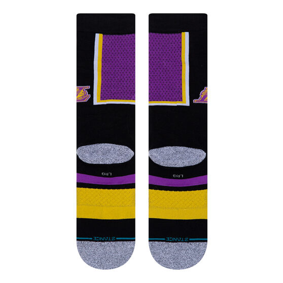Stance Los Angeles Lakers 2020 Shortcut 2 Socks Purple L, Purple, rebel_hi-res