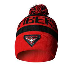 Essendon Bombes Bar Beanie OSFA, , rebel_hi-res