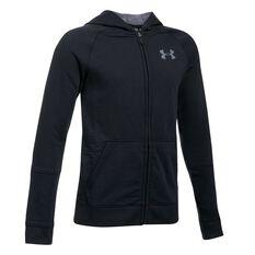 Under Armour Boys Select Hoodie Black / Grey XS Junior, Black / Grey, rebel_hi-res