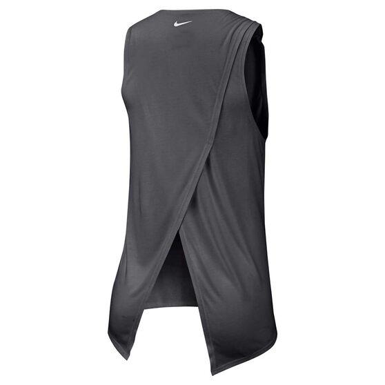Nike Womens Yoga Training Tank, Grey, rebel_hi-res