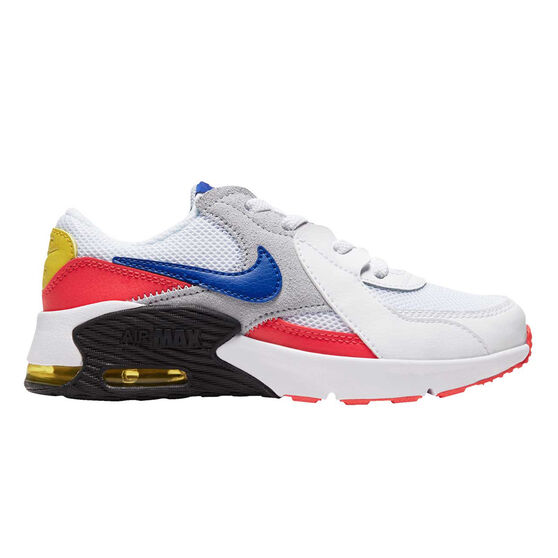 Nike Air Max Excee Kids Casual Shoes, White/Red, rebel_hi-res