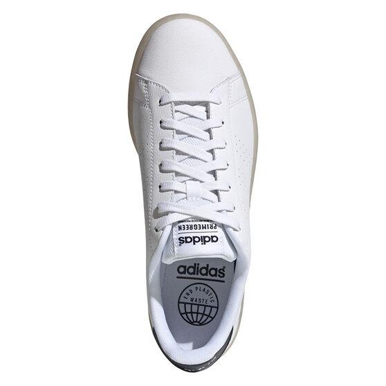 adidas Advantage Eco Mens Casual Shoes, White/Navy, rebel_hi-res
