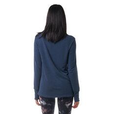 Ell & Voo Womens Amanda Pullover Sweatshirt Navy XXS, Navy, rebel_hi-res