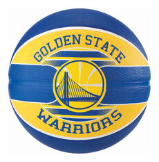 Spalding NBA Warriors Basketball Navy / Yellow 6, , rebel_hi-res