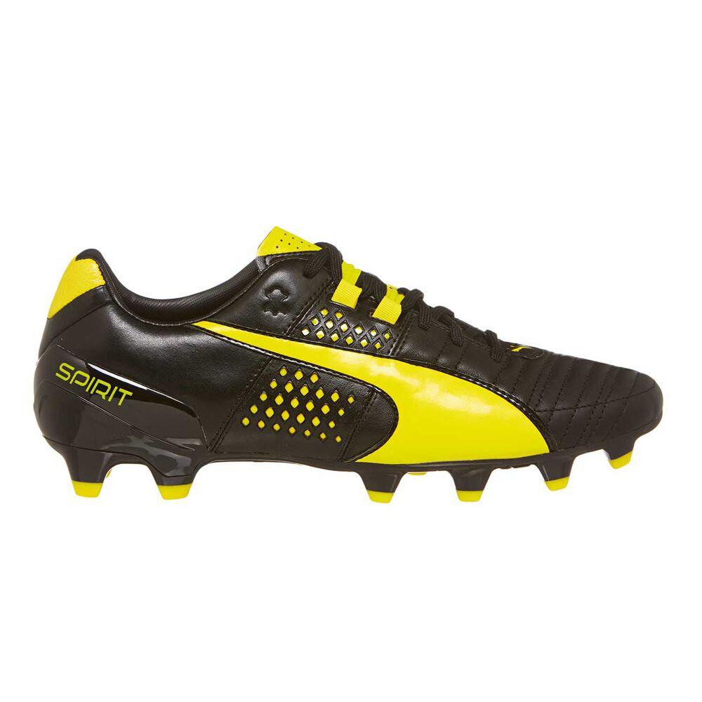 Puma Spirit II FG Mens Football Boots Black   Yellow US 7 Adult ... 3c711658e