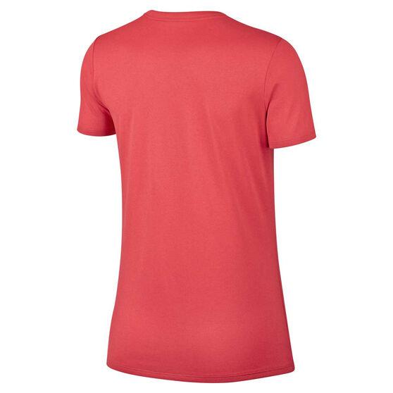 Nike Womens Dry Legend Crewneck Training Tee, Red / Black, rebel_hi-res