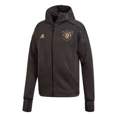 Manchester United 2019/20 Mens Z.N.E 3.0 Jacket Black S, Black, rebel_hi-res