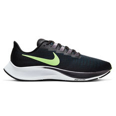 Nike Air Zoom Pegasus 37 Mens Running Shoes Black / Green US 7, Black / Green, rebel_hi-res
