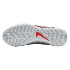 Nike Phantom Vision Academy Junior Indoor Soccer Shoes Red / Grey US 4, Red / Grey, rebel_hi-res