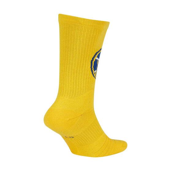 Nike Golden State Warriors 2019/20 Elite Crew Socks Yellow / Blue XL, Yellow / Blue, rebel_hi-res