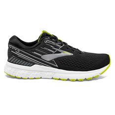Brooks Adrenaline GTS 19 Mens Running Shoes Black / Silver US 7, Black / Silver, rebel_hi-res
