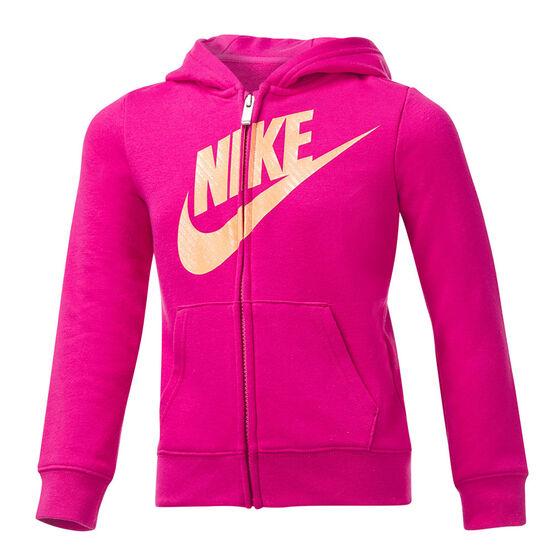 Nike Girls VF Futura FZ Hoodie, Pink, rebel_hi-res