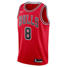 Nike Chicago Bulls Zach LaVine 2021/22 Mens Icon Jersey Red S, Red, rebel_hi-res