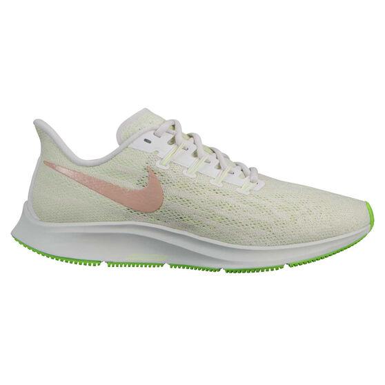 Nike Air Zoom Pegasus 36 Womens Running Shoes, Green / White, rebel_hi-res