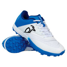 Kookaburra Pro 2.0 Rubber Cricket Shoes White/Blue US 7, White/Blue, rebel_hi-res