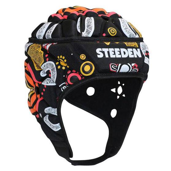 Steeden Indigenous Headgear, Black, rebel_hi-res