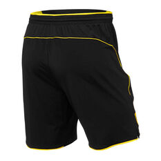 Richmond Tigers 2019 Mens Travel Shorts Brown / Yellow S, Brown / Yellow, rebel_hi-res