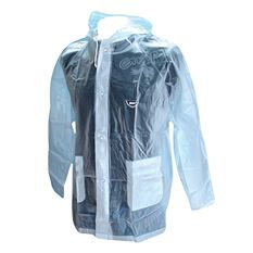 Team All Clear Wet Weather Jacket Clear M Adult, Clear, rebel_hi-res
