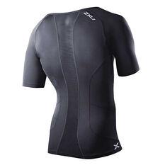 2XU Mens Short Sleeve Compression Top Black XS Adult, Black, rebel_hi-res