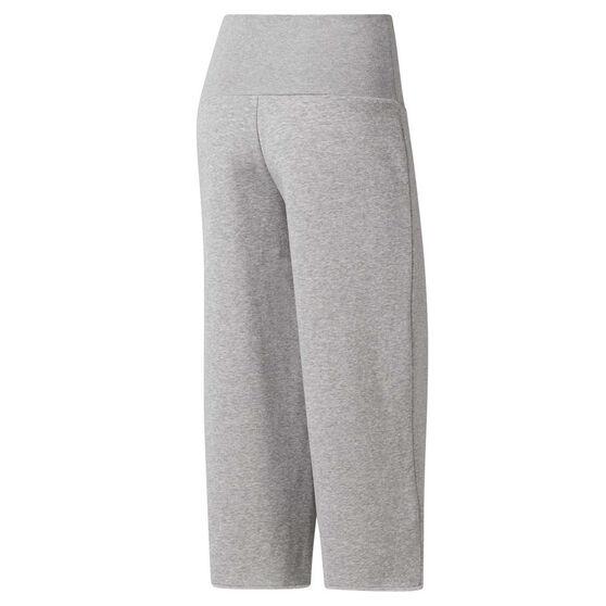 Reebok Womens Studio Wide Leg Pants, Grey, rebel_hi-res