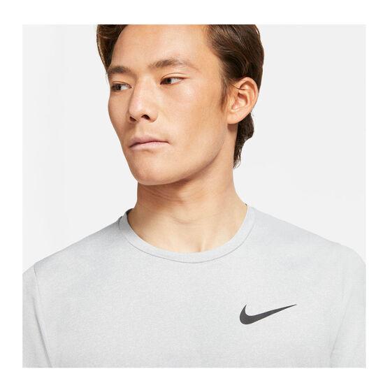 Nike Mens Pro Dri-FIT Short Sleeve Tee, Grey, rebel_hi-res
