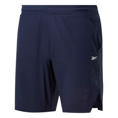 Reebok Mens United By Fitness Epic Shorts Navy S, Navy, rebel_hi-res