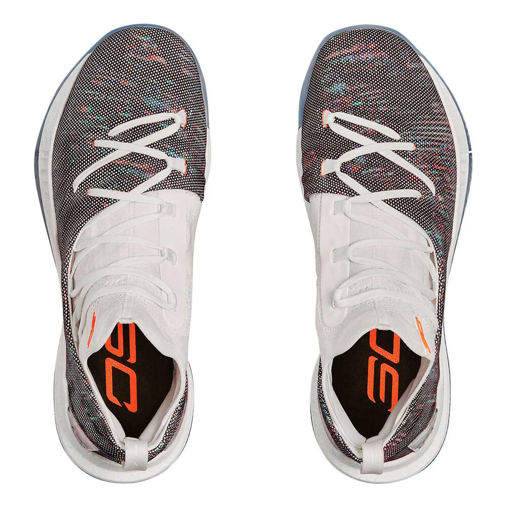 f2516ad1384 Under Armour Curry 5 Mens Basketball Shoes White   Coral US 8.5 ...