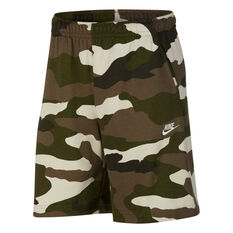 Nike Mens Sportswear Club French Terry Camo Shorts Camo XS, Camo, rebel_hi-res