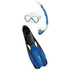 Mares Cobia Fluida Snorkel Set Blue S, Blue, rebel_hi-res