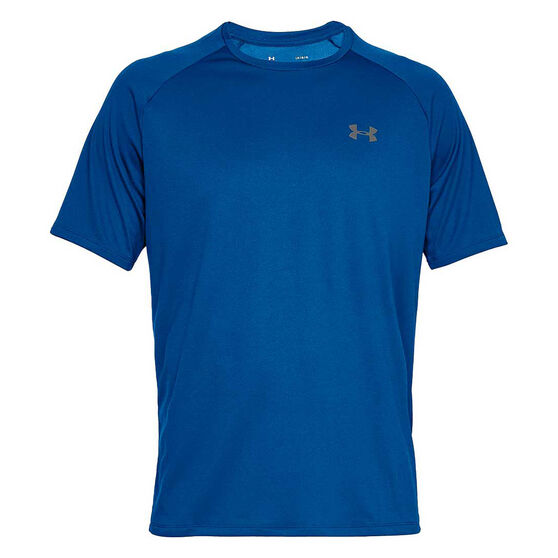 Under Armour Mens Tech Tee, Royal / Grey, rebel_hi-res