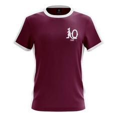 QLD Maroons State of Origin 2019 Mens Heritage Tee Maroon S, Maroon, rebel_hi-res