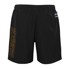 West Tigers 2021 Kids Sports Shorts, Black, rebel_hi-res