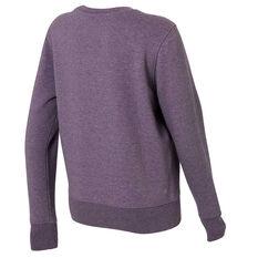 Ell & Voo Womens Harper Fleece Crew Sweatshirt Purple XS, Purple, rebel_hi-res