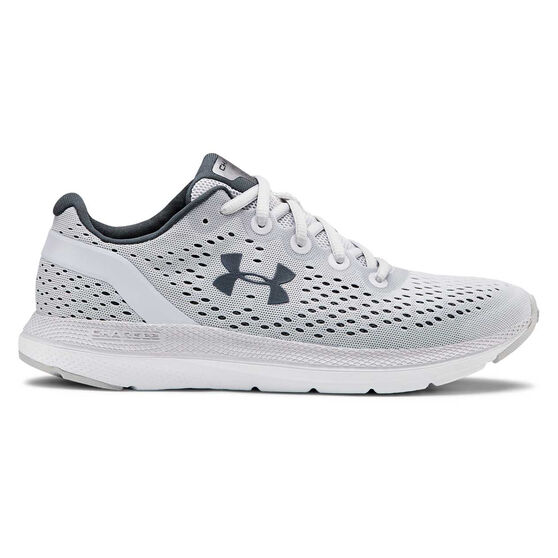 Under Armour Charged Impulse Womens Running Shoes Grey / White US 7.5, Grey / White, rebel_hi-res