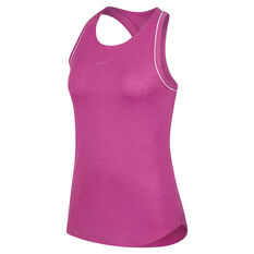NikeCourt Womens Dri-FIT Tank Pink / White XS, Pink / White, rebel_hi-res