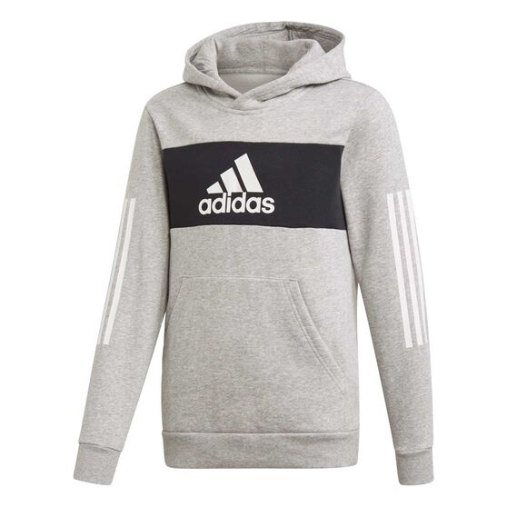 adidas Boys Pullover Sweatshirt, Grey / Black, rebel_hi-res