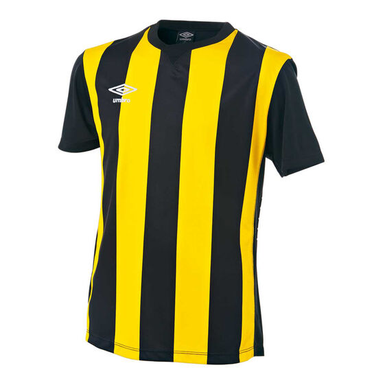 Umbro Kids Striped Jersey, Yellow / Black, rebel_hi-res